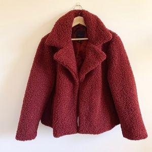 ⭐️HOST PICK ⭐️Amaryllis teddy coat-brick red SZ 2X